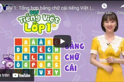 Bài 1: Tổng hợp bảng chữ cái tiếng Việt | DẠY TIẾNG VIỆT LỚP 1 | VTV7