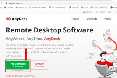 Hướng dẫn cài đặt và sử dụng mềm điều khiển máy tính từ xa AnyDesk miễn phí