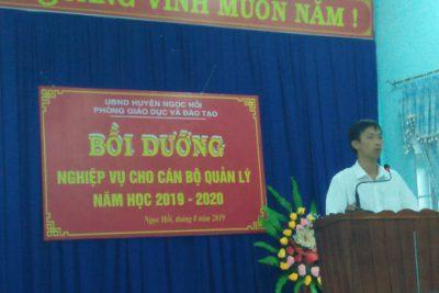 Phòng GDĐT tổ chức bồi dưỡng nghiệp vụ cho cán bộ quản lý trường học