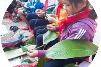 Trường Tiểu học Đắk Xú tổ chức Ngày hội gói bánh chưng xanh