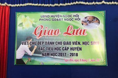 """Ngày hội """"Giao lưu viết chữ đẹp"""" cấp tiểu học huyện Ngọc Hồi"""