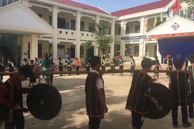 Văn hóa công chiêng tại trường PTDTBT THCS Ngô Quyền