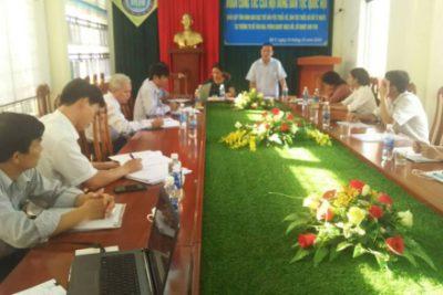 Đoàn giám sát của Hội đồng Dân tộc Quốc hội làm việc tại huyện Ngọc Hồi