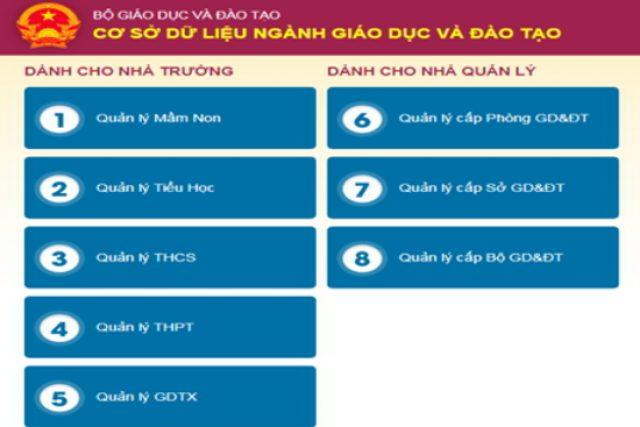 Không xóa hồ sơ và mã định danh của học sinh, giáo viên, nhân viên, CBQL giáo dục trên Cơ sở dữ liệu ngành