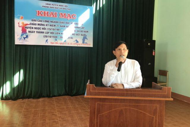 Khai mạc Giải cầu lông ngành giáo dục huyện Ngọc Hồi năm 2018