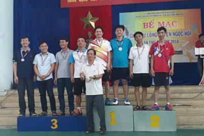 Đoàn vận động viên Ngành giáo dục đạt thành tích cao tại Giải cầu lông huyện Ngọc Hồi lần thứ 2 năm 2018