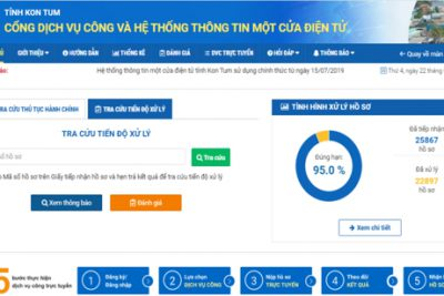 Danh mục Dịch vụ công (DVC) trực tuyến mức độ 3, 4 lĩnh vực giáo dục đào tạo trên cổng DVC và Hệ thống thông tin một cửa điện tử tỉnh Kon Tum