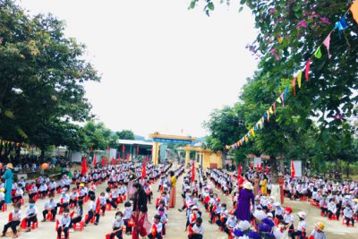 Trường TH-THCS Đắk Xú tưng bừng lễ khai giảng năm học mới