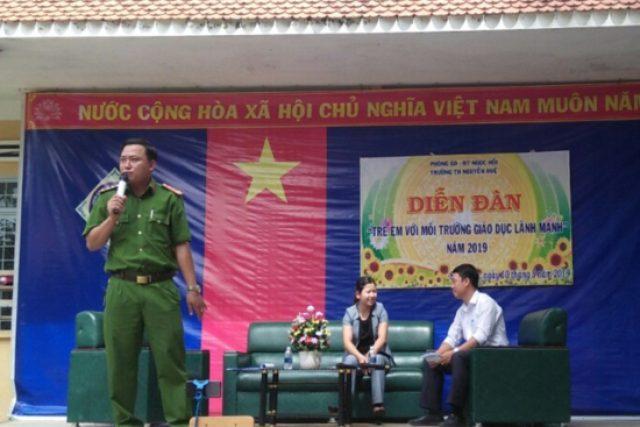 """Trường tiểu học Nguyễn Huệ tổ chức Diễn đàn """"trẻ em với môi trường giáo dục lành mạnh"""" năm 2019"""