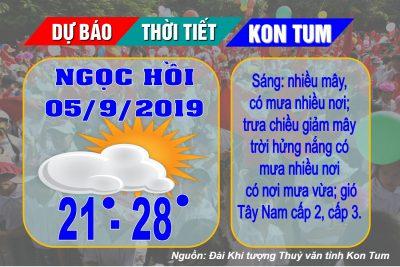 Kon Tum: Dự báo thời tiết phục vụ Lễ khai giảng năm học mới 2019-2020