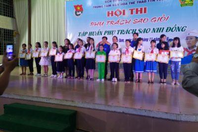 Học sinh huyện Ngọc Hồi giành giải Nhất hội thi phụ trách Sao nhi đồng giỏi toàn tỉnh năm 2019