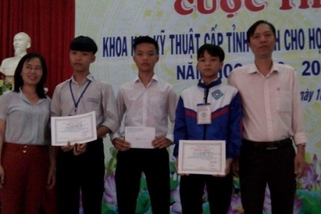 Ngọc Hồi đạt 02 giải Nhì tại cuộc thi Khoa học kỹ thuật cấp tỉnh năm học 2019-2020