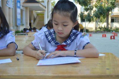 Trường Tiểu học Lê Văn Tám tổ chức ngày hội khai bút đầu Xuân