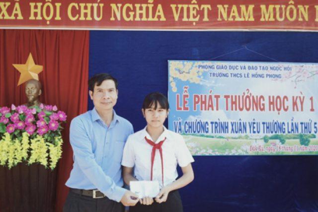 """Trường THCS Lê Hồng Phong với Chương trình """"Xuân Yêu thương"""""""