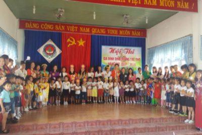 Trường MN Họa Mi tổ chức Hội thi gia đình và dinh dưỡng trẻ thơ