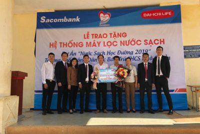 Trường PTDTBT THCS Ngô Quyền nhận bàn giao hệ thống máy lọc nước sạch học đường