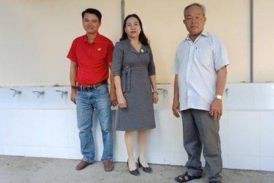 Ban ĐDCMHS Trường TH Số 1 Thị trấn Plei Kần tặng nhiều hạng mục bổ trợ cho khu vệ sinh của học sinh