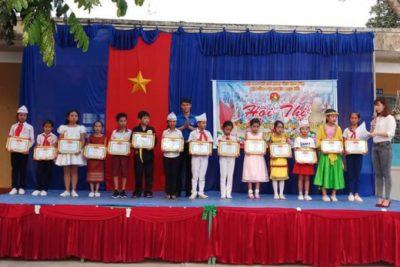 """Tập thể, cá nhân được khen thưởng tại Hội thi """"Nét đẹp Đội viên – Chỉ huy Đội giỏi"""" cấp huyện năm 2018"""
