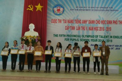 Học sinh huyện Ngọc Hồi tham dự Olympic tài năng tiếng Anh cấp tỉnh lần thứ V