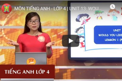 MÔN TIẾNG ANH – LỚP 4 | UNIT 13: WOULD YOU LIKE SOME MILK? – LESSON 1 | 19H45 NGÀY 30.03.2020