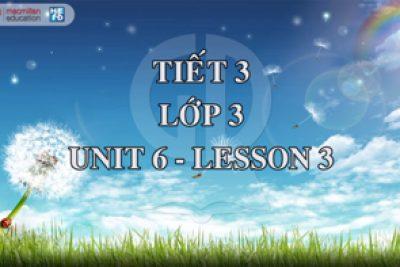 Demo tiết giảng mẫu Tiếng Anh 3 Tập 1: Tiết 3/ Unit 6/ Lesson1