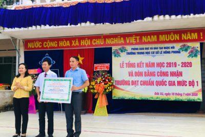 Trường THCS Lê Hồng Phong – 15 năm xây dựng và trưởng thành