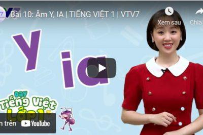 Bài 10: Âm Y, IA | TIẾNG VIỆT 1 | VTV7