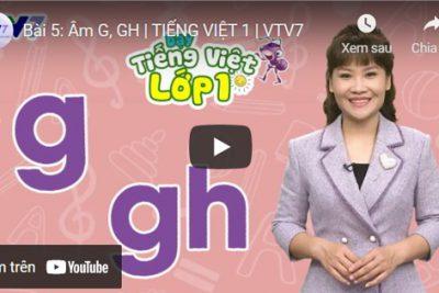 Bài 5: Âm G, GH | TIẾNG VIỆT 1 | VTV7