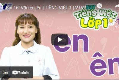 Bài 16: Vần en, ên   TIẾNG VIỆT 1   VTV7