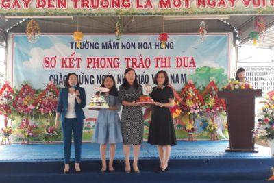 Nhân ngày 20/11, cảm nhận về lãnh đạo – Người đứng đầu trường mầm non Hoa Hồng