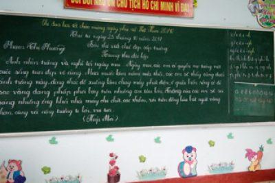 Trường Tiểu học Đắk Xú tổ chức giao lưu viết chữ đẹp năm học 2017-2018