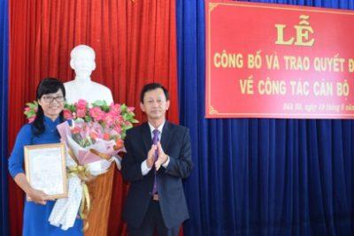 Điều động, phân công đồng chí Phạm Thị Trung giữ chức Giám đốc Sở GD&ĐT
