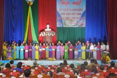 Tuyên dương 34 giáo viên tiêu biểu nhân dịp gặp mặt kỉ niệm 35 năm ngày Nhà giáo Việt Nam