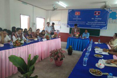 Hội nghị đánh giá nội dung kết nghĩa năm 2017 giữa Trường THCS Bờ Y (Việt Nam) và Trường THCS-THPT Nang Hèo (Lào)