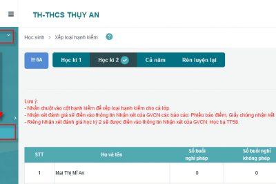 Hướng dẫn ghi nhận xét của giáo viên chủ nhiệm vào sổ điện tử SMAS