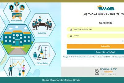 Hướng dẫn sử dụng phần mềm SMAS cho giáo viên