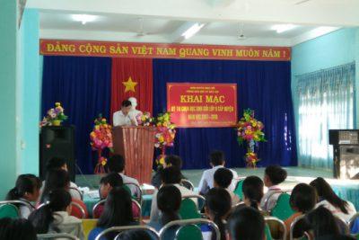 Ngành giáo dục huyện tổ chức kỳ thi chọn học sinh giỏi lớp 8, năm học 2017-2018