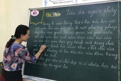 Giao lưu viết chữ đẹp cấp huyện bậc tiểu học năm học 2017-2018