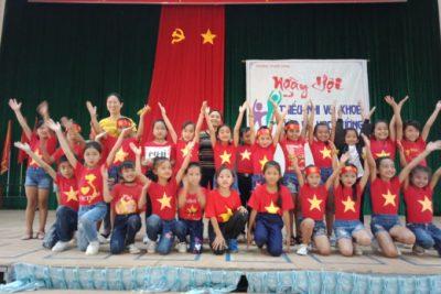 Dân vũ học đường – Sôi động Ngày hội thiếu nhi vui khỏe