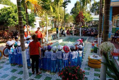 Trường Mầm non Hoa Hồng tổ chức thành công mẫu hoạt động ngoài trời theo chuyên đề xây dựng trường MN lấy trẻ làm trung tâm