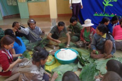 Trường mầm non Họa Mi Tưng bừng Ngày hội bánh chưng xanh – chia sẻ xuân yêu thương