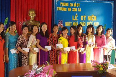 Trường Mầm non Sơn Ca: nhiều hoạt động chào mừng Ngày Nhà giáo Việt Nam (20-11)