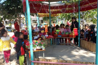 """Trường MN Chơ Rao tổ chức tập huấn chuyên đề """"Tăng cường tiếng Việt cho trẻ mẫu giáo tại trường mầm non"""""""