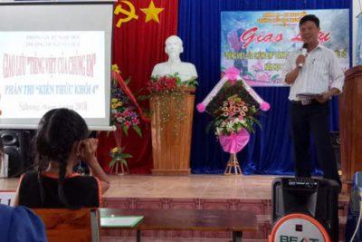 """Trường Tiểu học Nguyễn Huệ tổ chức giao lưu """"Tiếng Việt của chúng em"""" cho học sinh dân tộc thiểu số Năm học 2017-2018"""